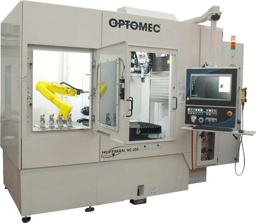 Optomec Huffman HC 205 industrial 3D printing machine with integrated robotics
