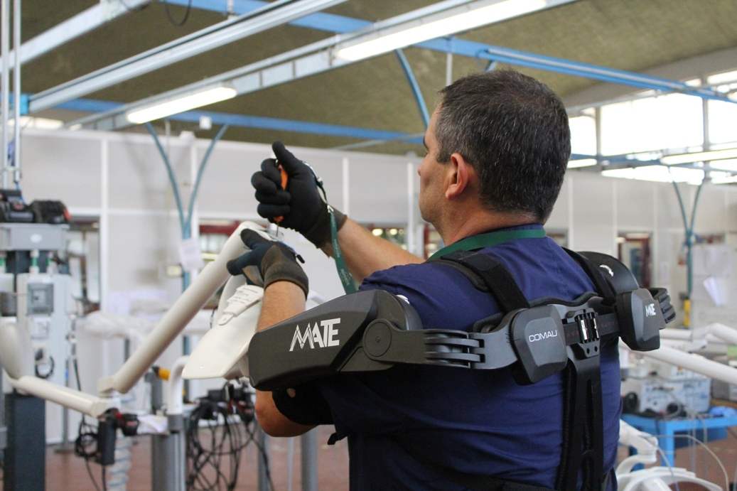 Variable support exoskeleton provides relief from postural fatigue