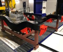 Carbon fibre bogie undergoes dynamic testing at the University of Huddersfield