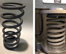 Compression spring testing evaluates effects of using standard tool steel at high temperatures