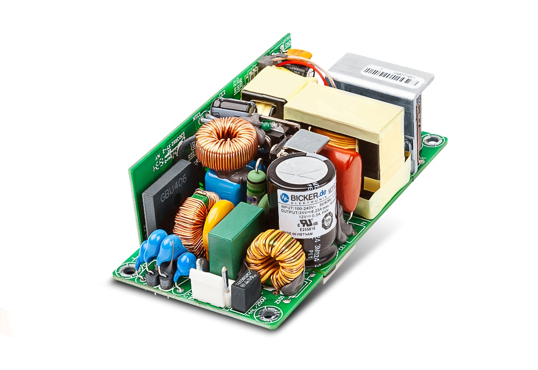 Fanless power supply with conduction cooling suitable for embedded applications
