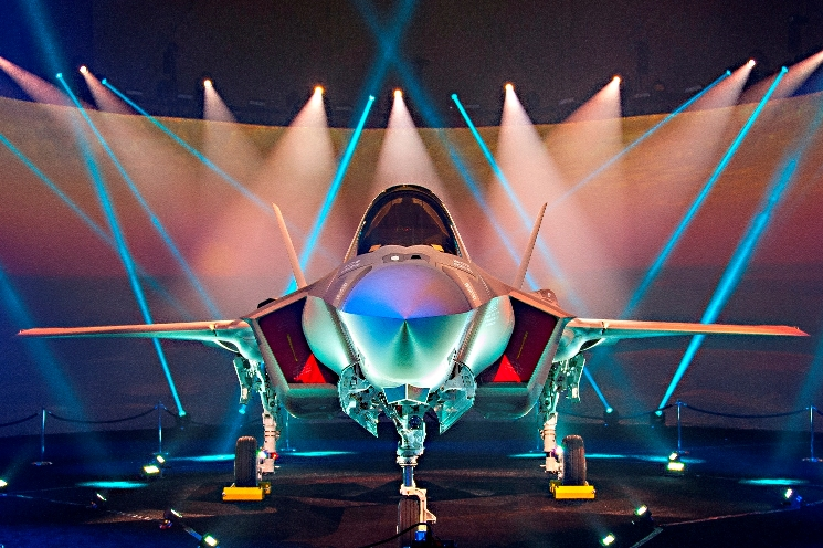 Lightning II F-35A conventional take-off variant uses AFP fabricated composite wing skins