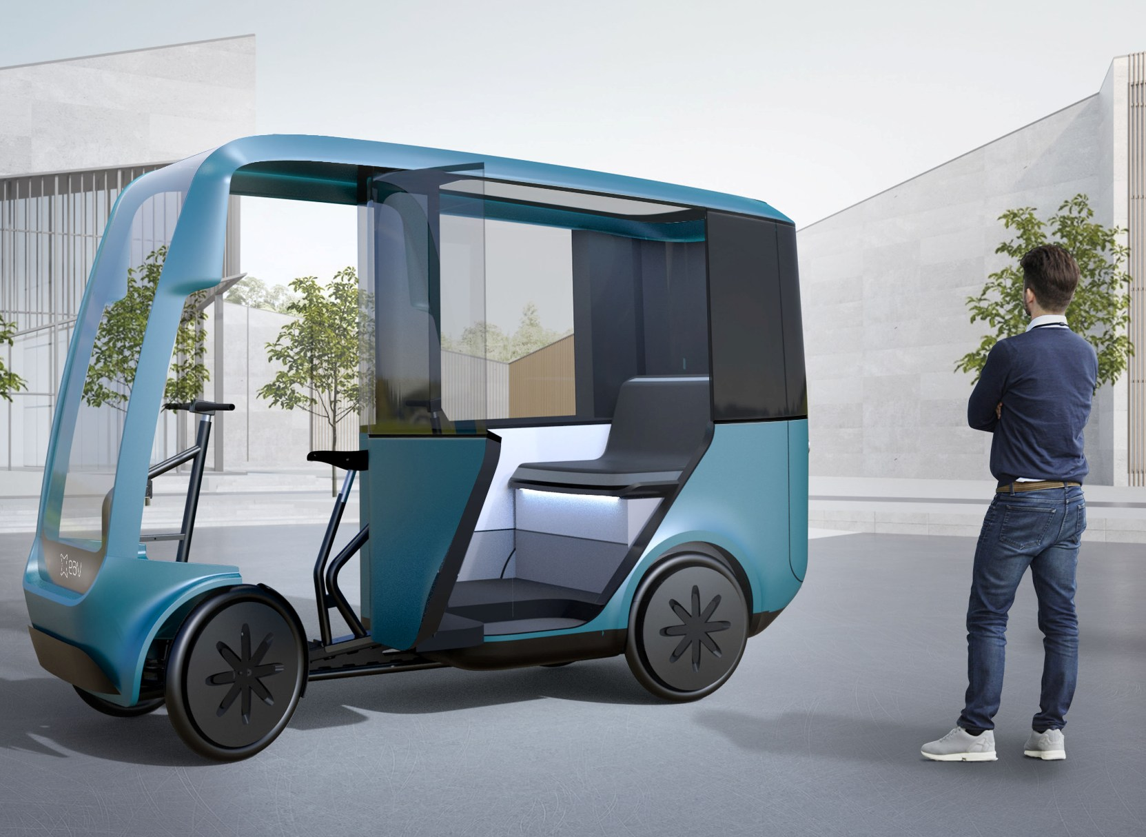 Lightweight electric taxi designed to cut emissions further