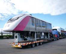 Monorail trains finish testing with first delivery to Bangkok