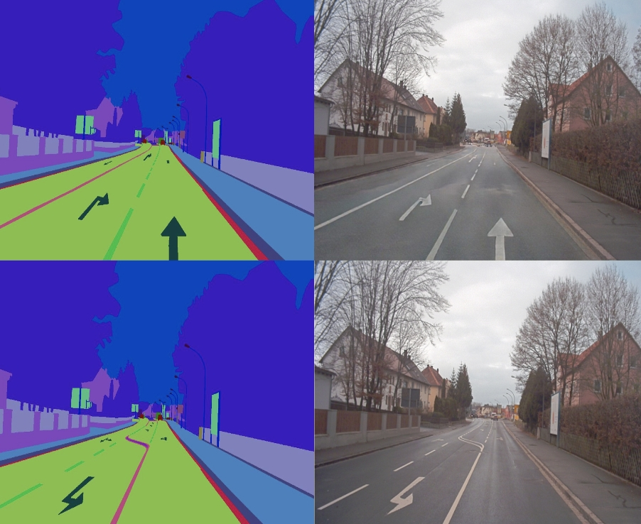 Oxbotica AI uses colour coding to synthesise different road markings