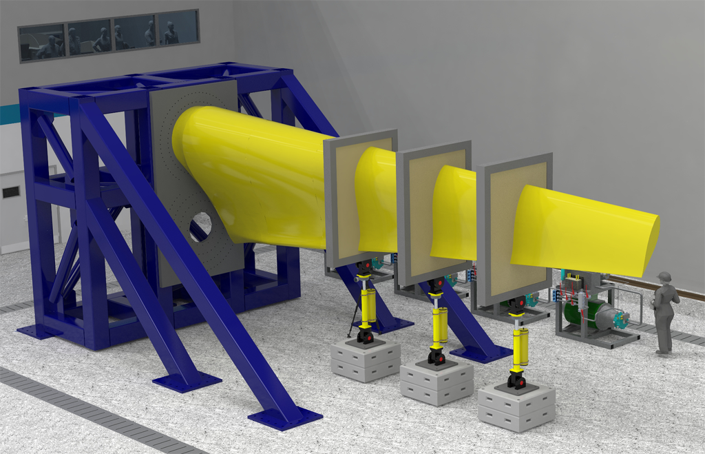 The FASTBLADE reaction frame will be used for fatigue testing of large tidal blades and aerospace structures