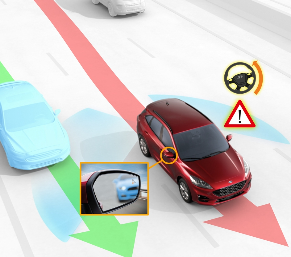 Blind spot assist prevents side-swipe collisions