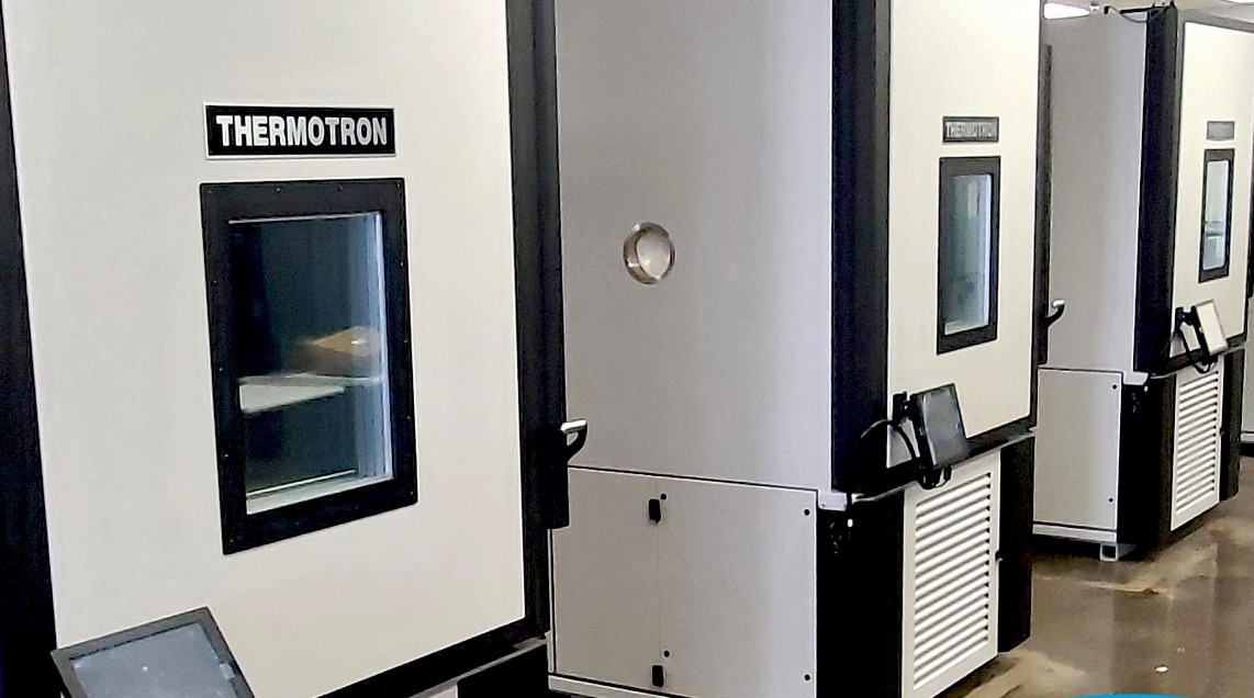 Environmental chamber capacity increase with four new Thermotron chambers