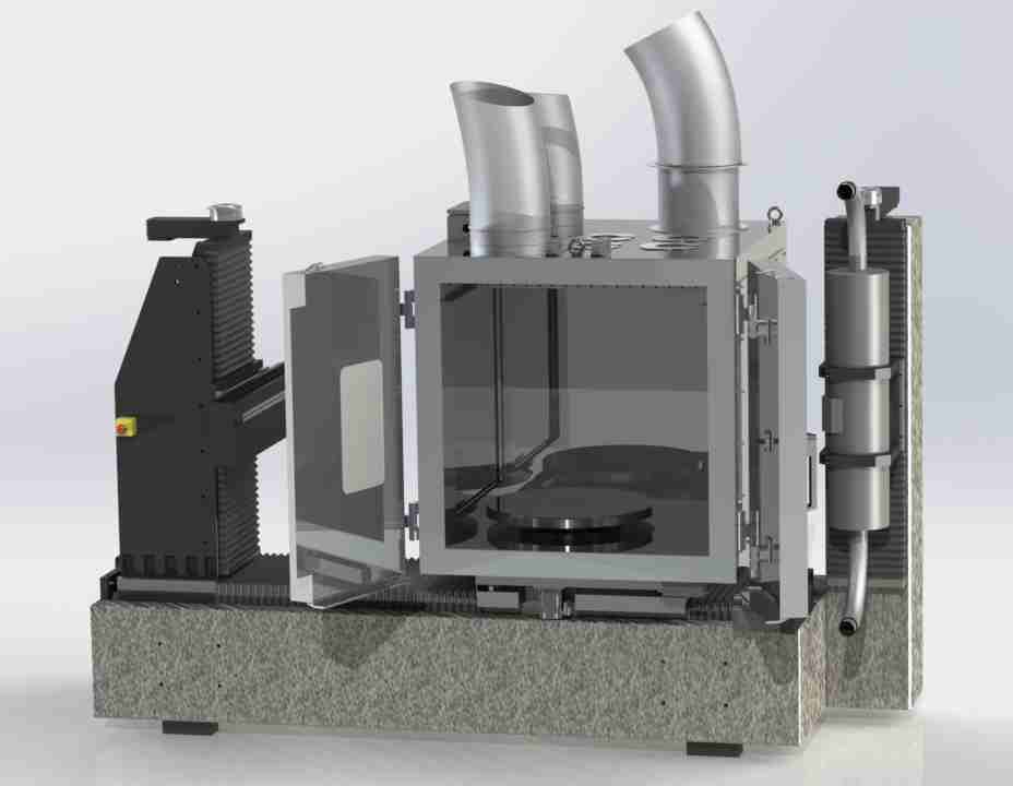 Climatic chamber for battery testing includes a CT scanner for condition monitoring