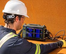 Advanced Phased Array Flaw Detection system uses multiple technologies