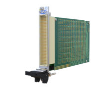 Rack mounted multiplexer verifies open channels prior to the application of test signals