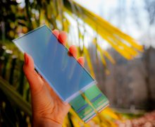 Thin film multi-fingerprint optical sensor is able to detect prints across the entire surface of a smartphone screen