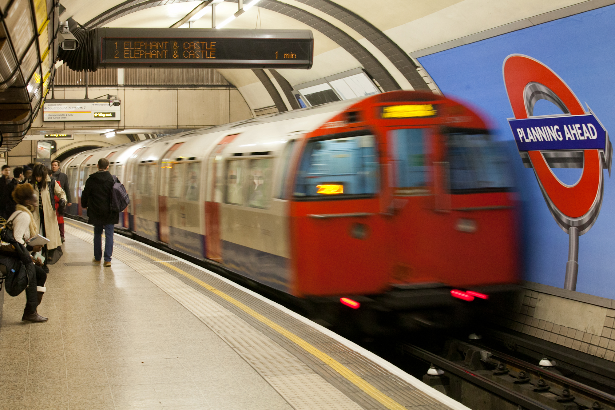 72TS Bakerloo line train with TMS fitted