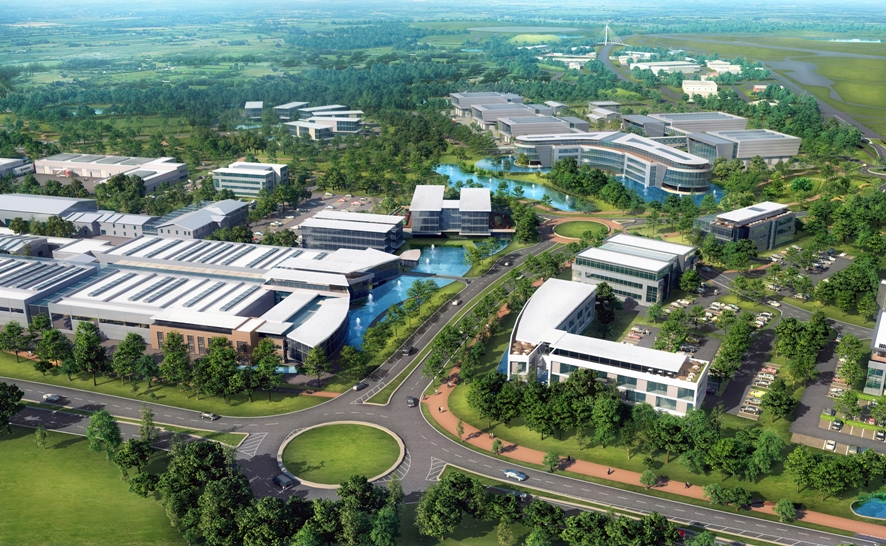 Aerial view of MIRA Technology Park
