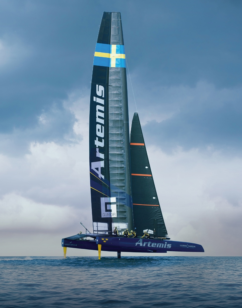 Altair Artemis Americas Cup yacht with daggerboards