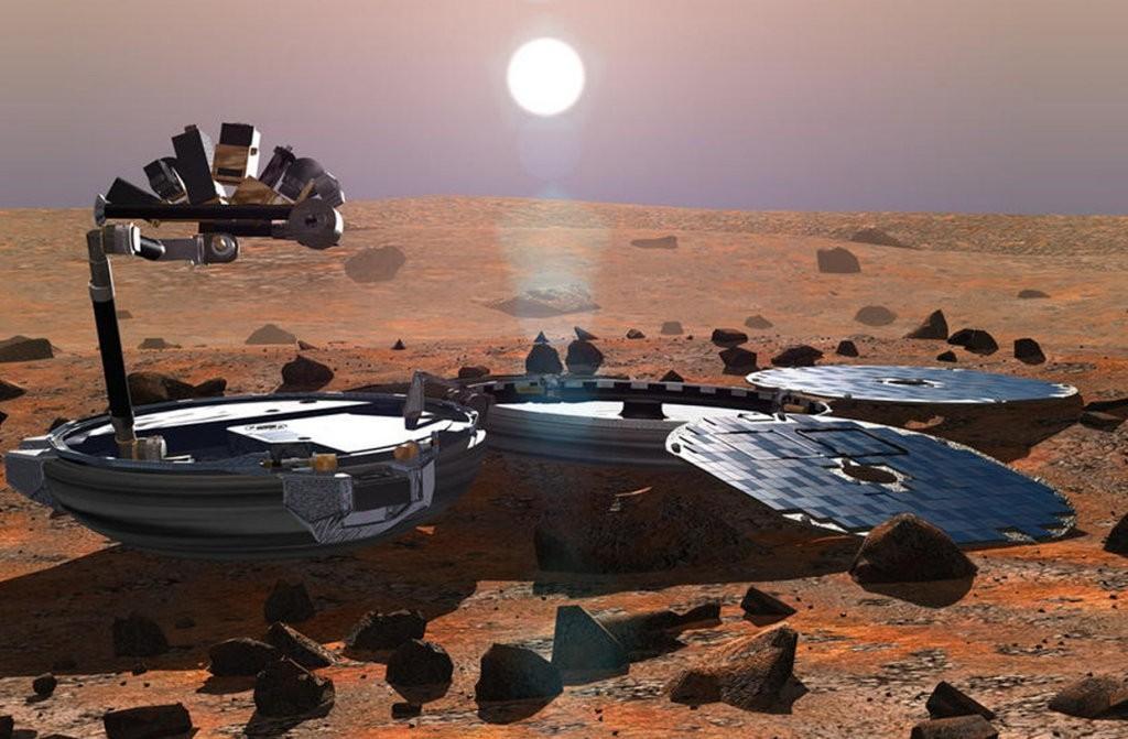 Artist impression of Beagle 2 on Mars