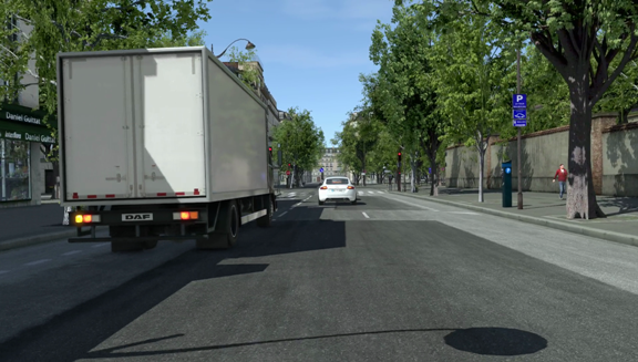 Autonomous driving software simulates the streets of Paris