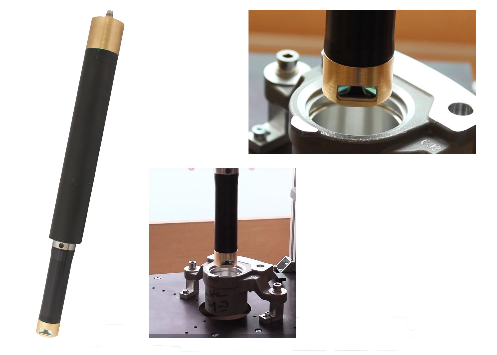 Binocular triangulation laser sensor