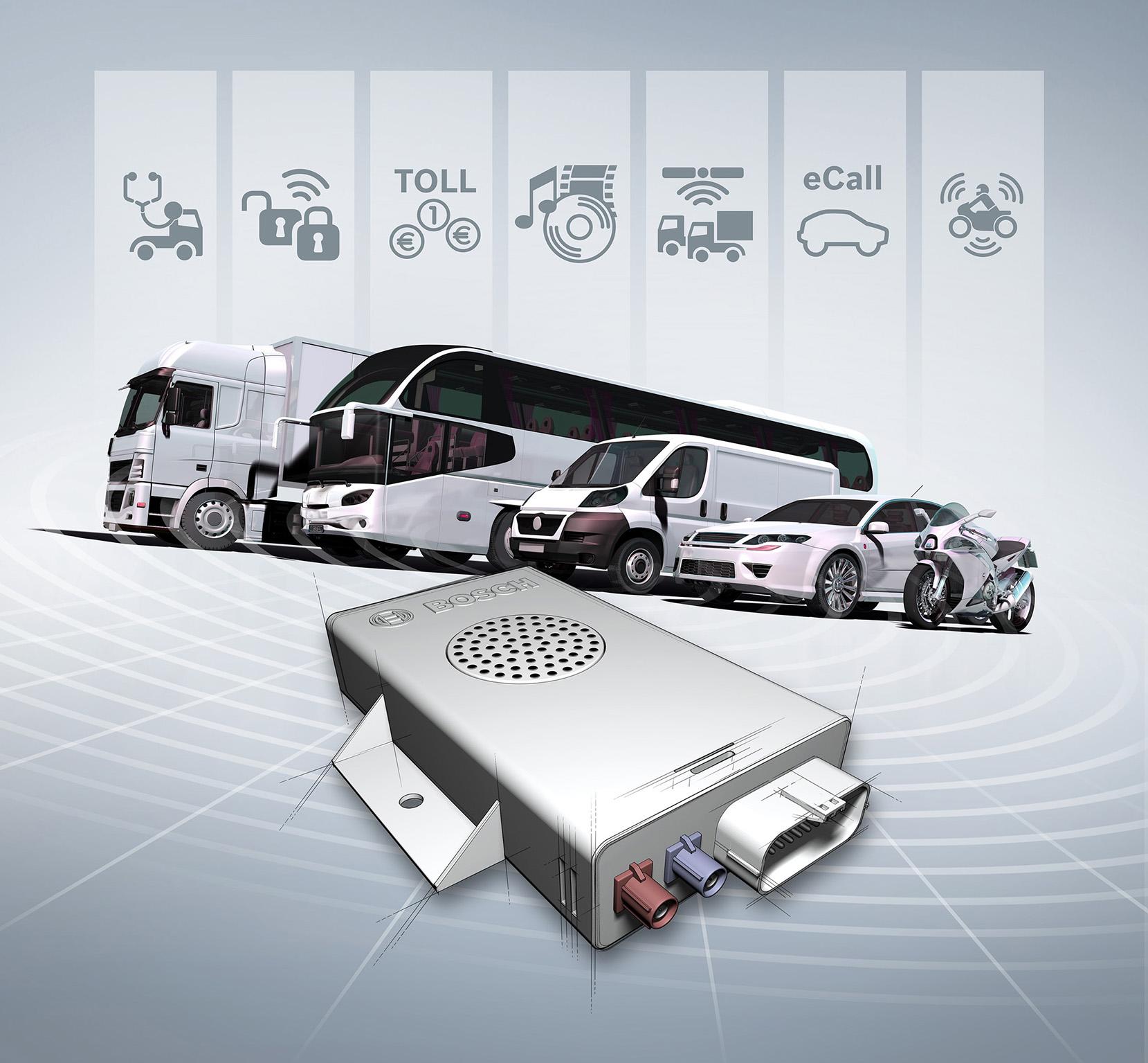 Bosch connected car control unit