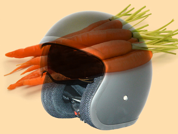 Carrot nanofibres could be used for motorcycle helmets