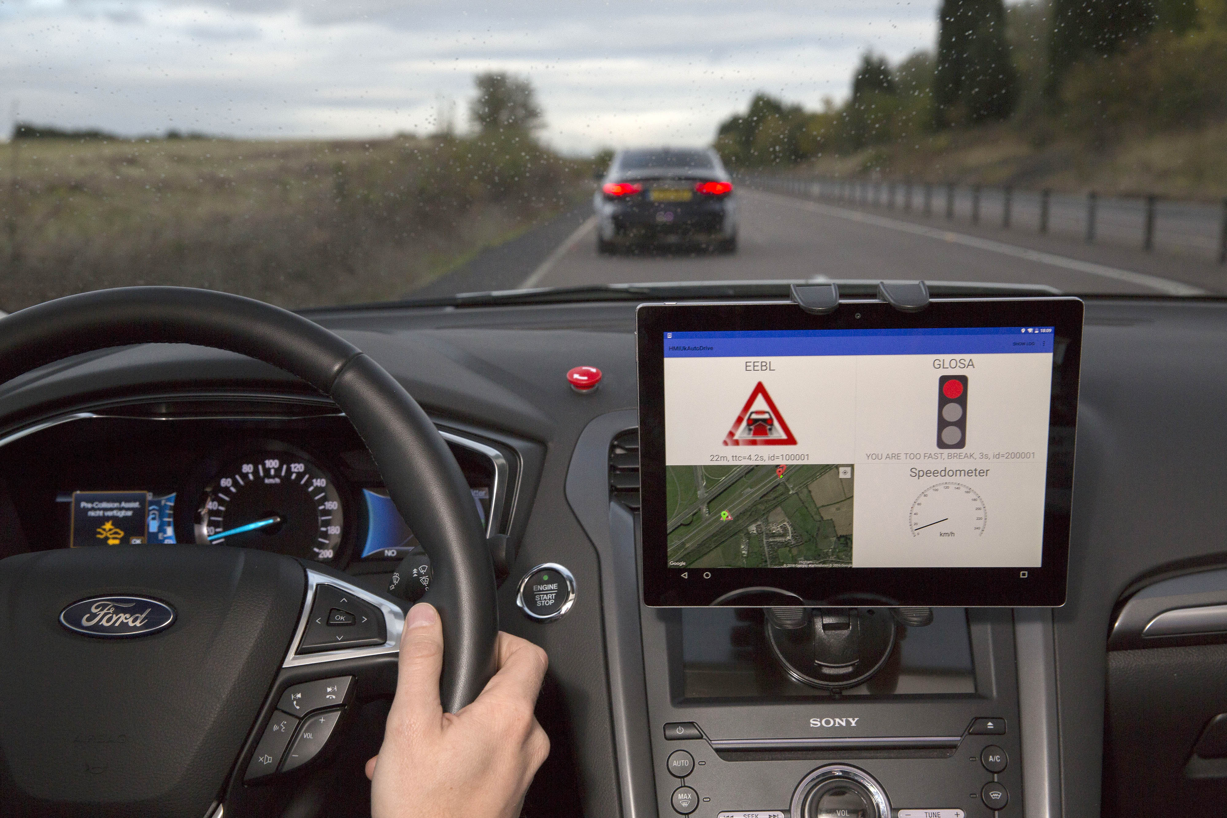 Collaborative Trials of Connected And Self Driving Cars