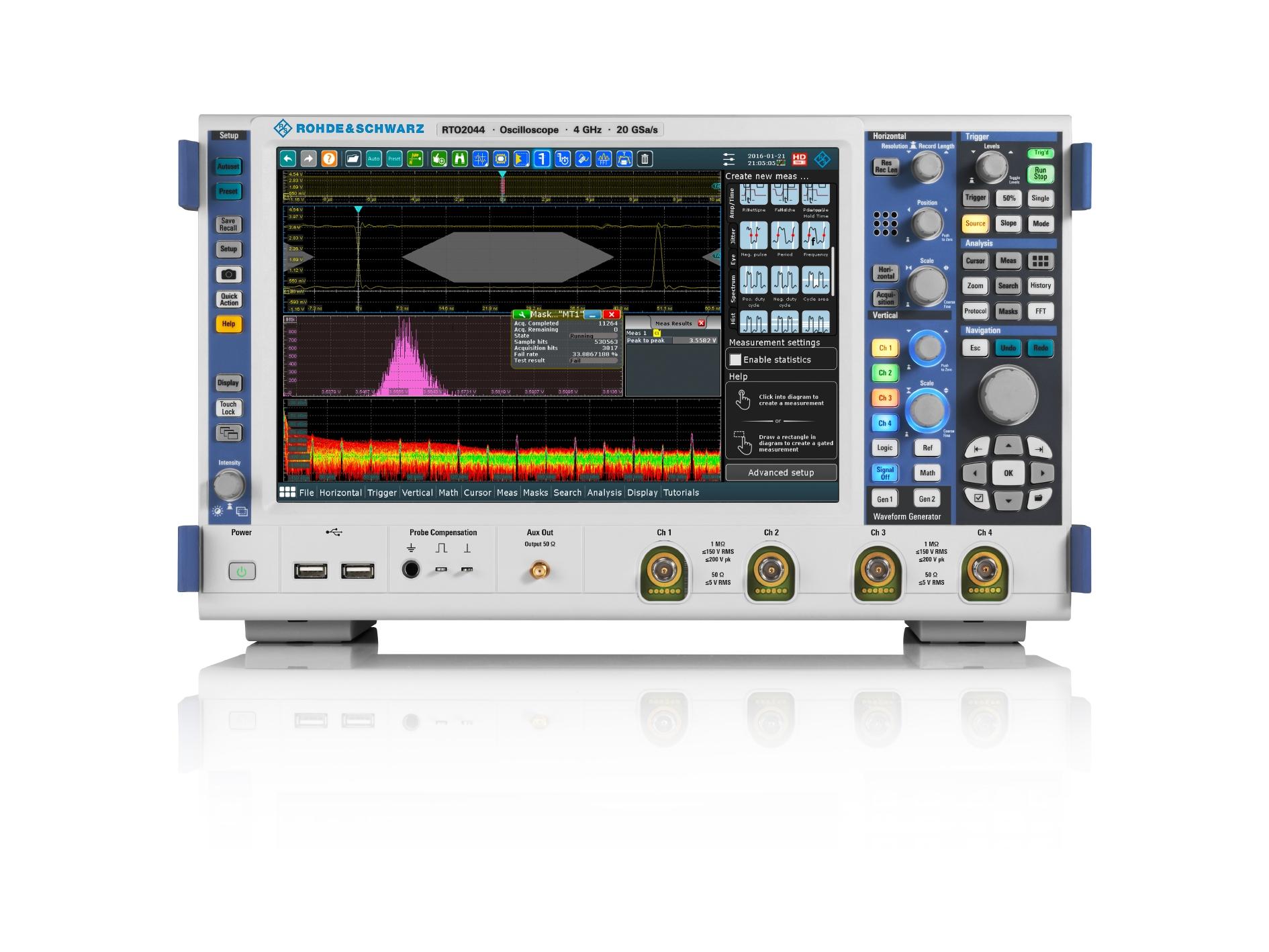 Compact lab oscilloscope