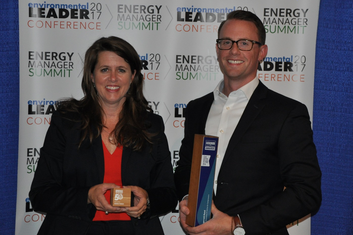 Deborah Kalish of Ingersoll Rand and Kyle Winchester at the Energy Manager Summit