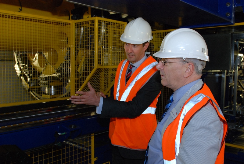 Dr Paul Allen (left) with Network Rail Chairman Sir Peter Hendy