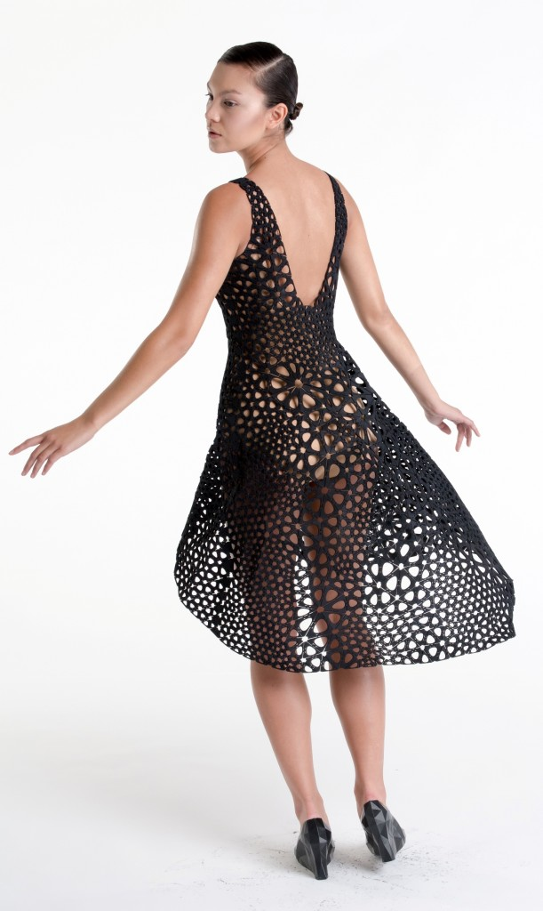 Dress printed from on single piece of material