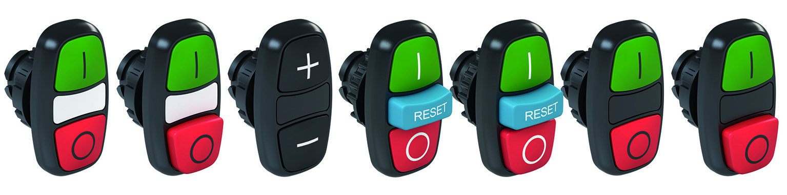 Dual and triple push-button switches