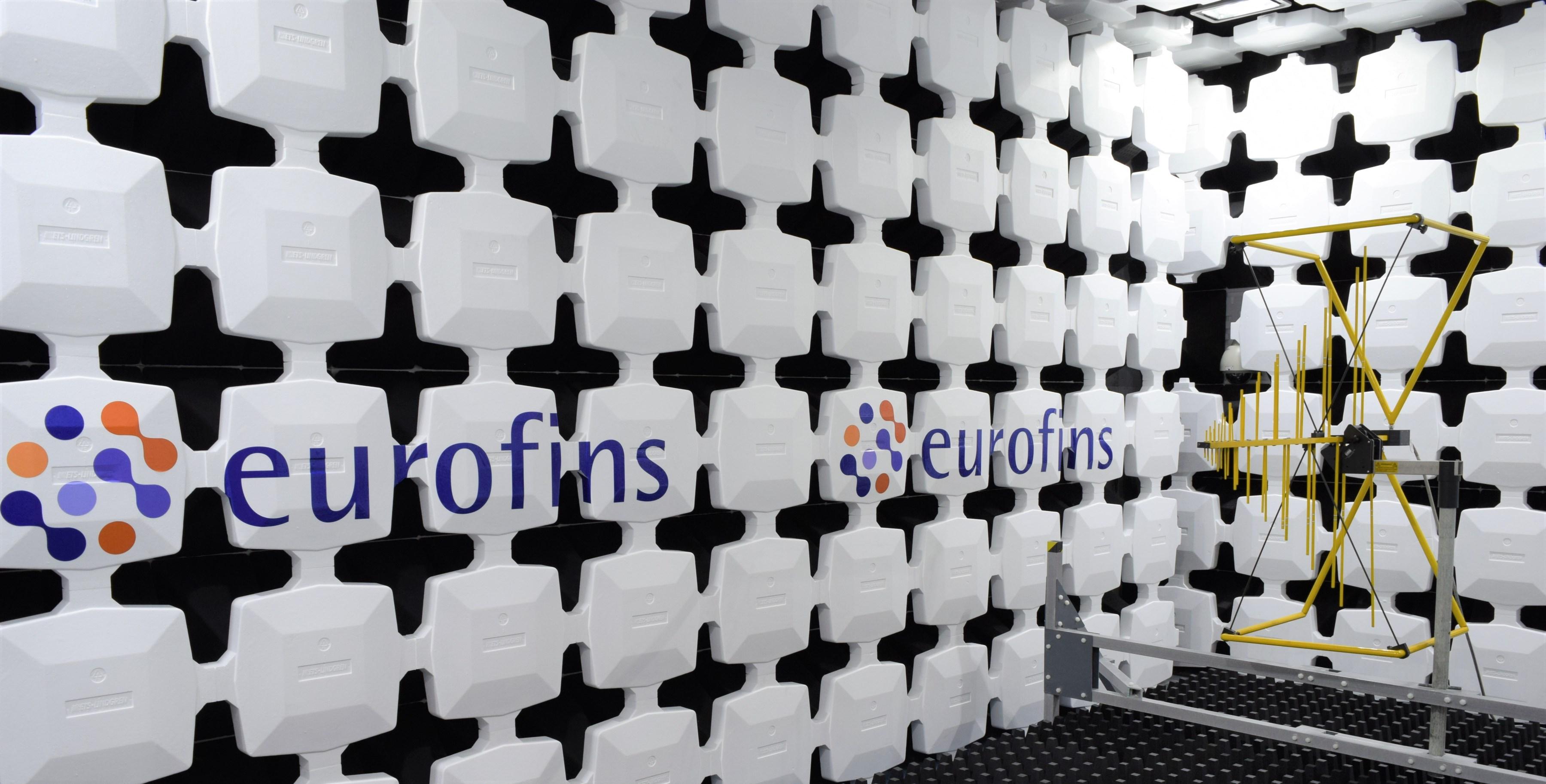 Eurofins EMC test chamber