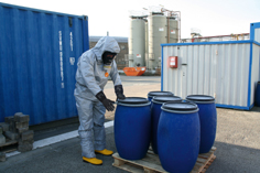 FaceSeal chemical protective coverall