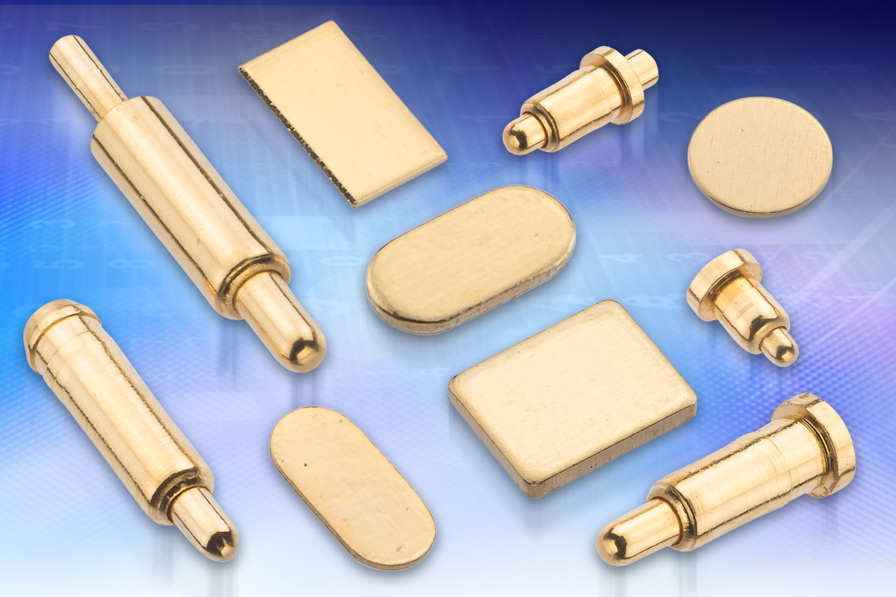Harwin Pogo Pin contact and S70 SMT contact pads