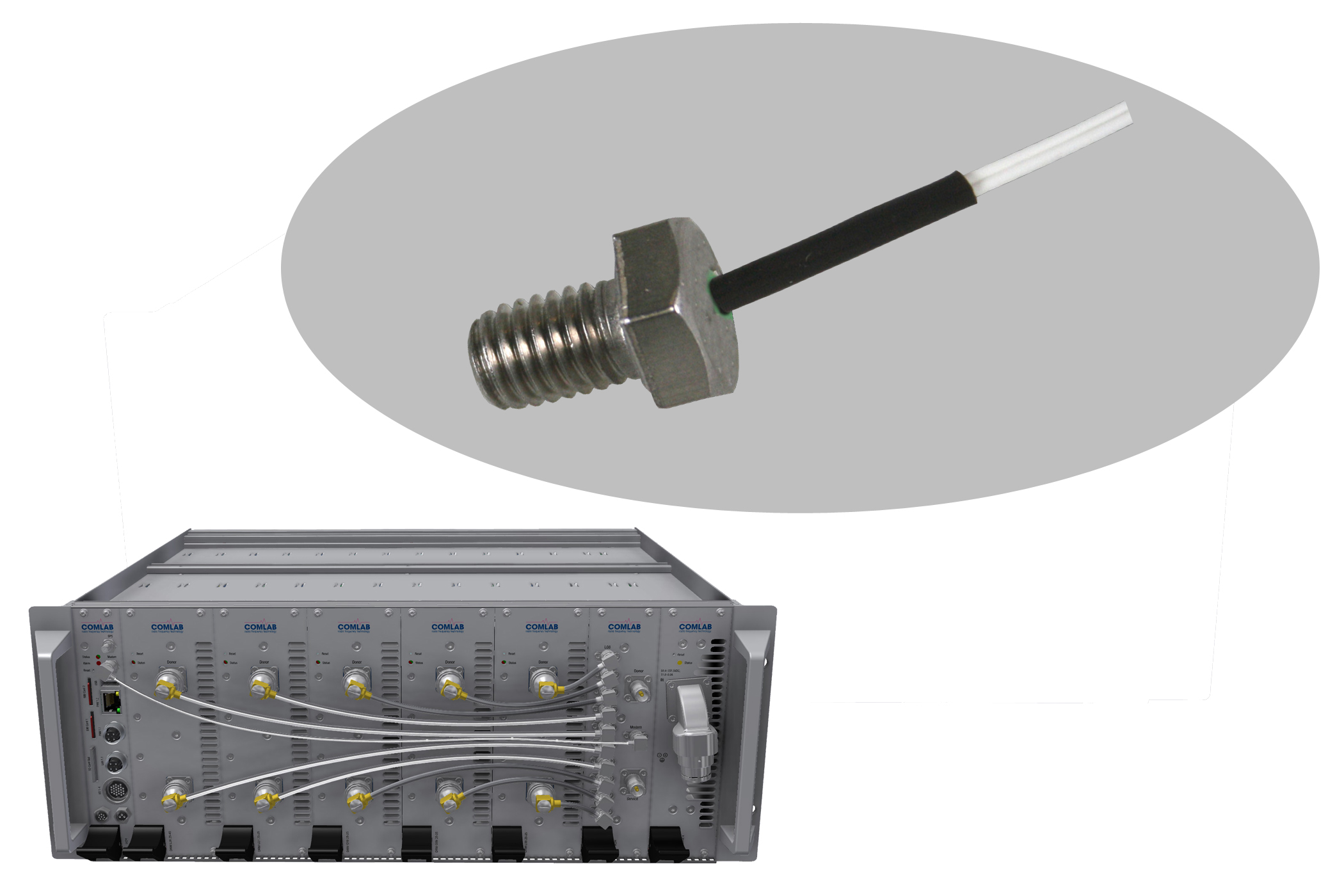 Hexagonal bolt temperature probes
