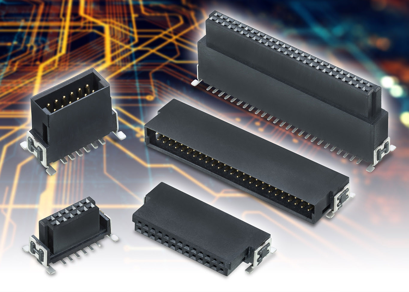 Industrial board-to-board connector range