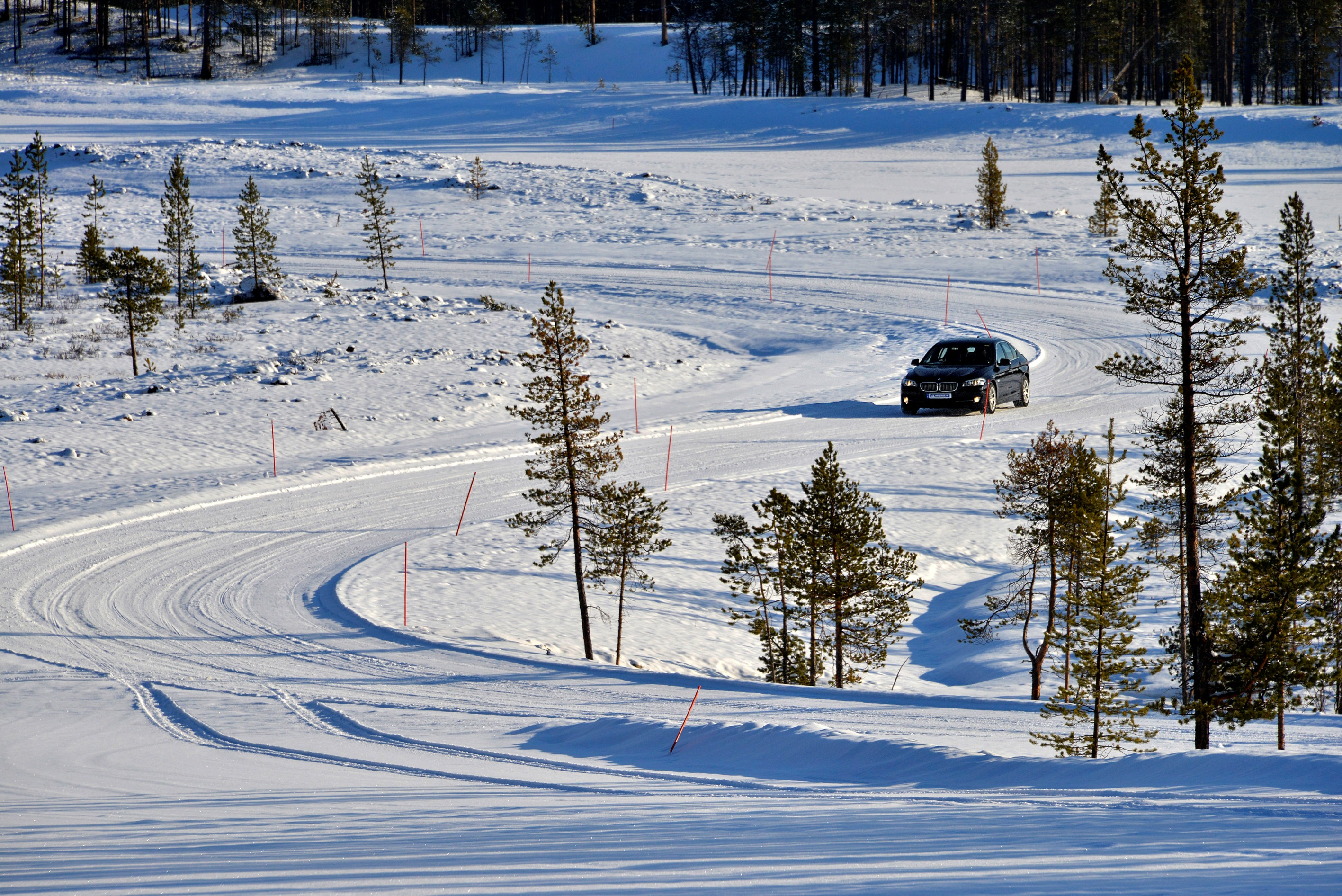 Ivalo winter tyre testing track north of the Arctic circle
