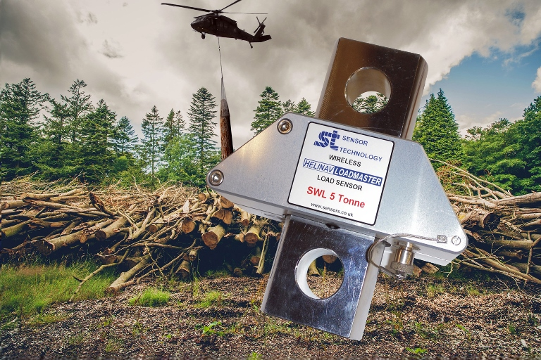 Load sensor aids tree extraction by helicopter