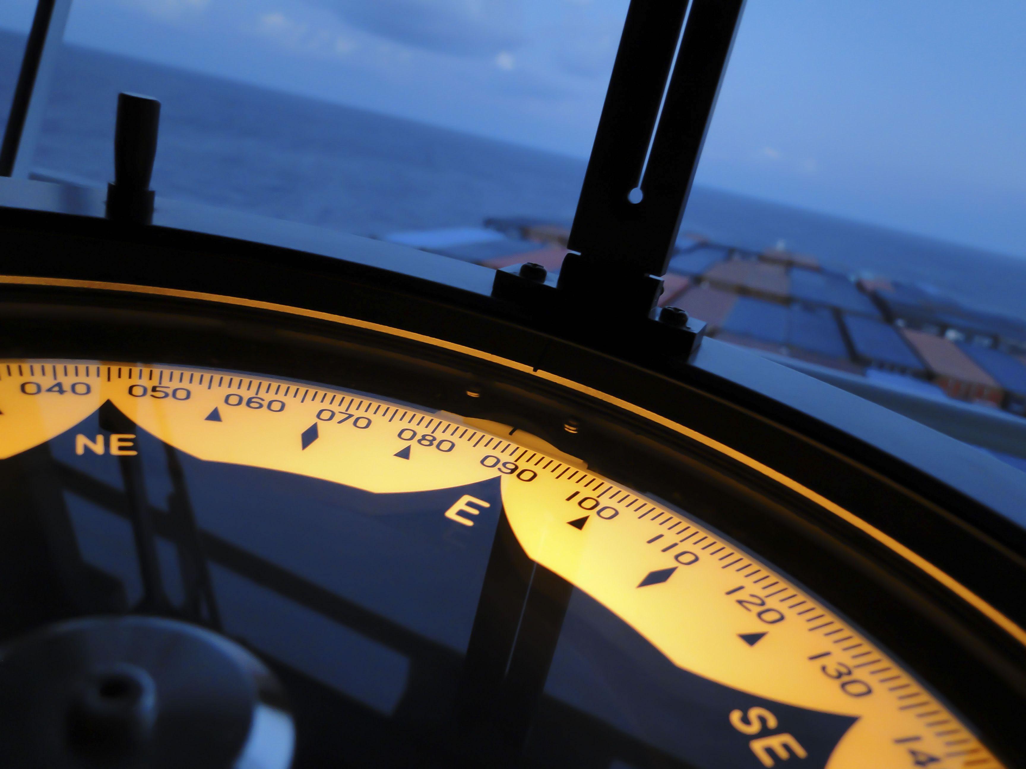 Marine gyroscopes typically use angular contact ball bearings