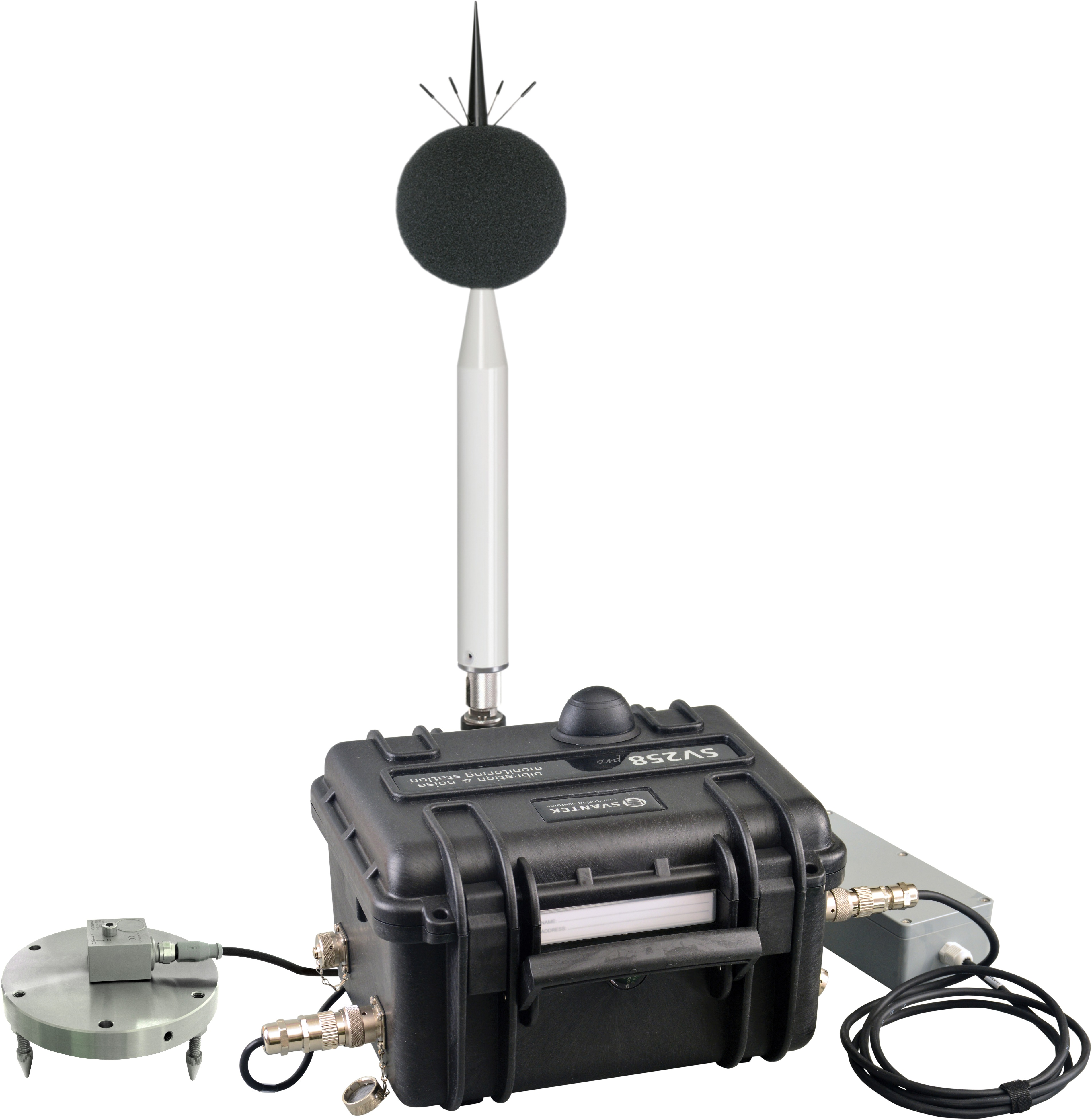 Outdoor noise and vibration monitoring station