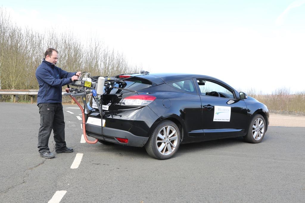 Portable Emissions Measurement System (PEMS) at Millbrook