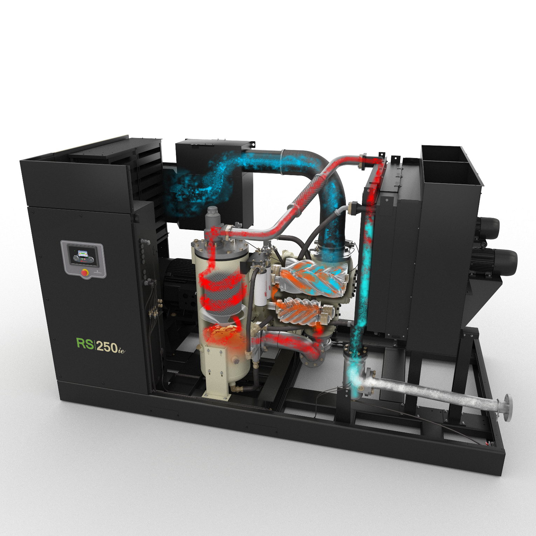 R-Series oil-flooded rotary screw air compressor