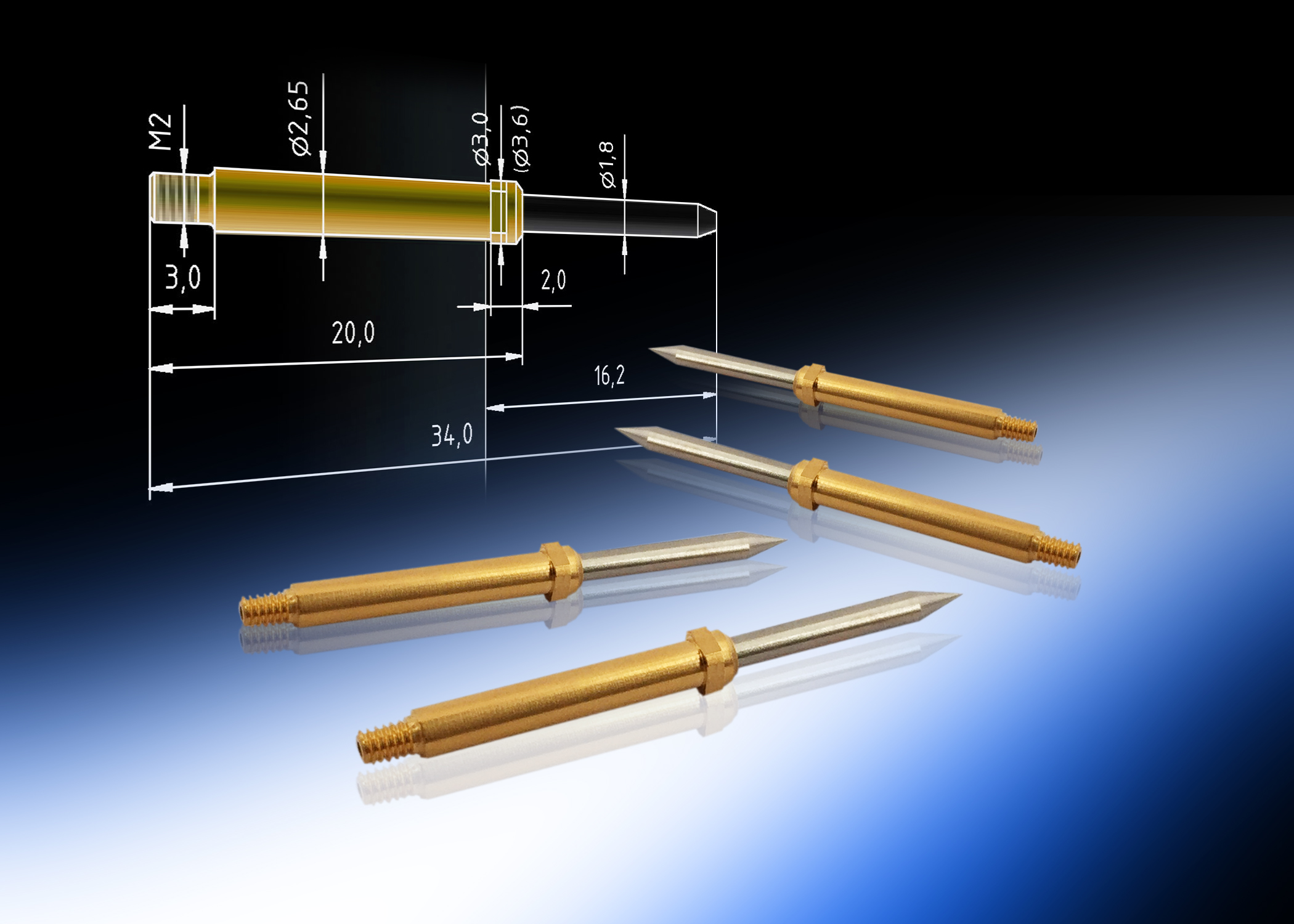 RF contact probe for high-speed data connectors