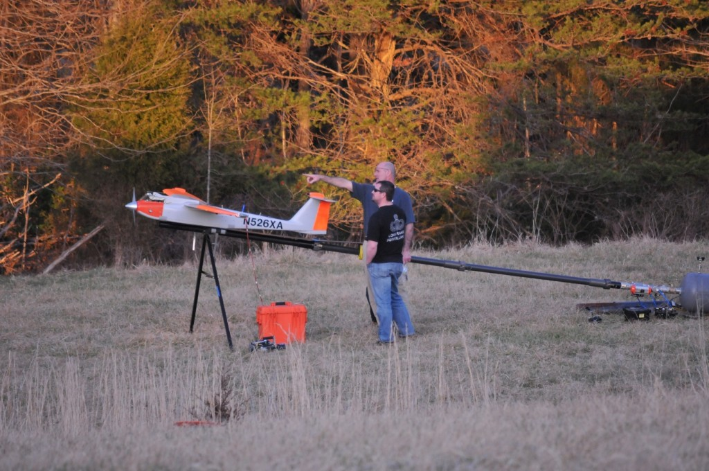 RS-16 Unmanned Aircraft System launch preparation