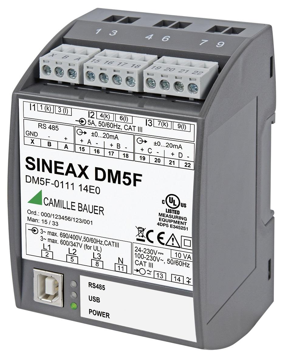 SINEAX DM5 programmable universal measurement instrument for heavy current networks