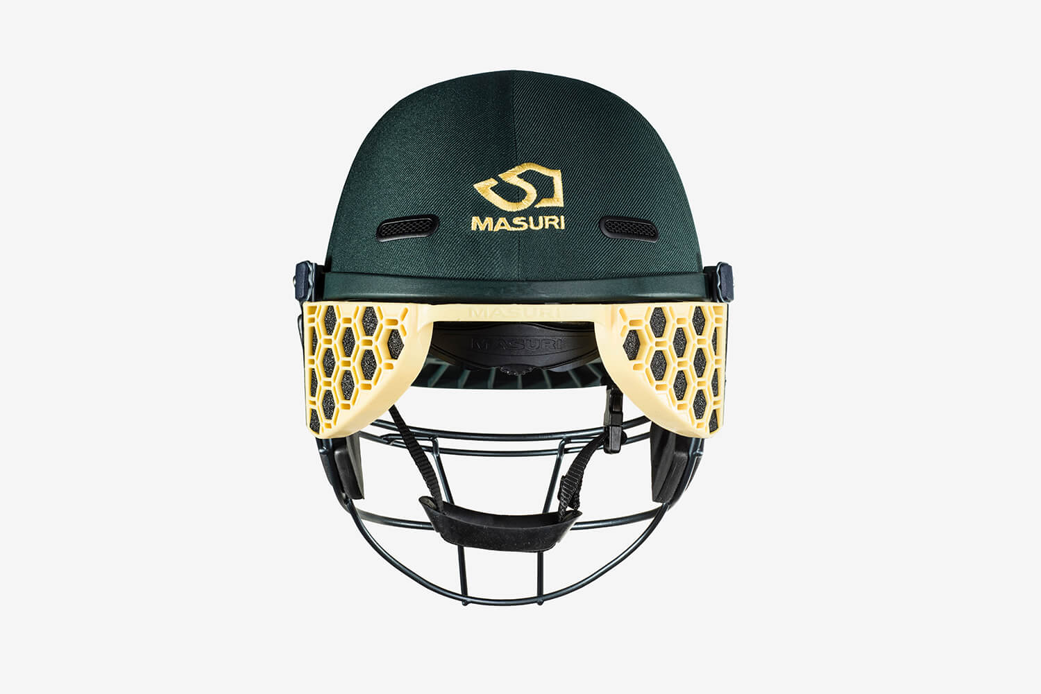 Safe design of Masuri cricket helmet