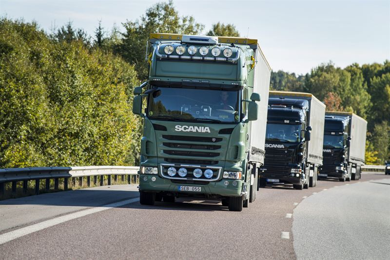 Scania HGV equipment used for platooning