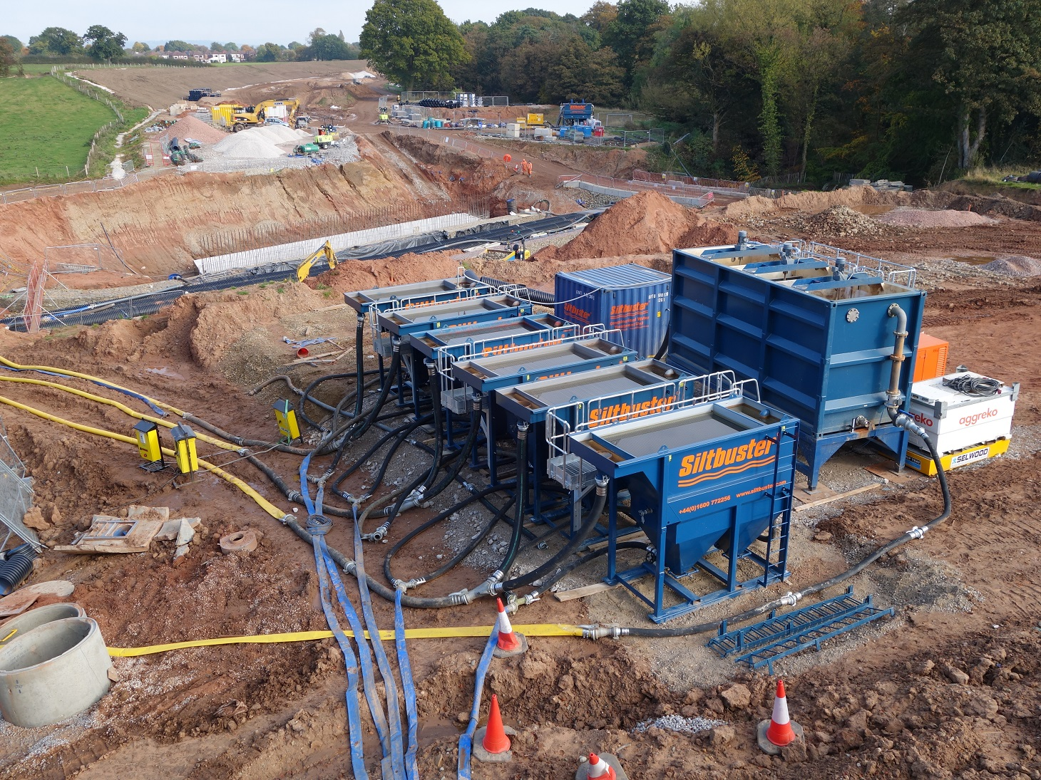 Siltbuster system for treating construction water run-off