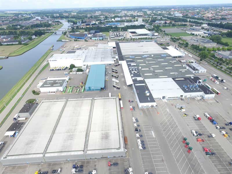Solar power roof at Scania production facility in Zwolle