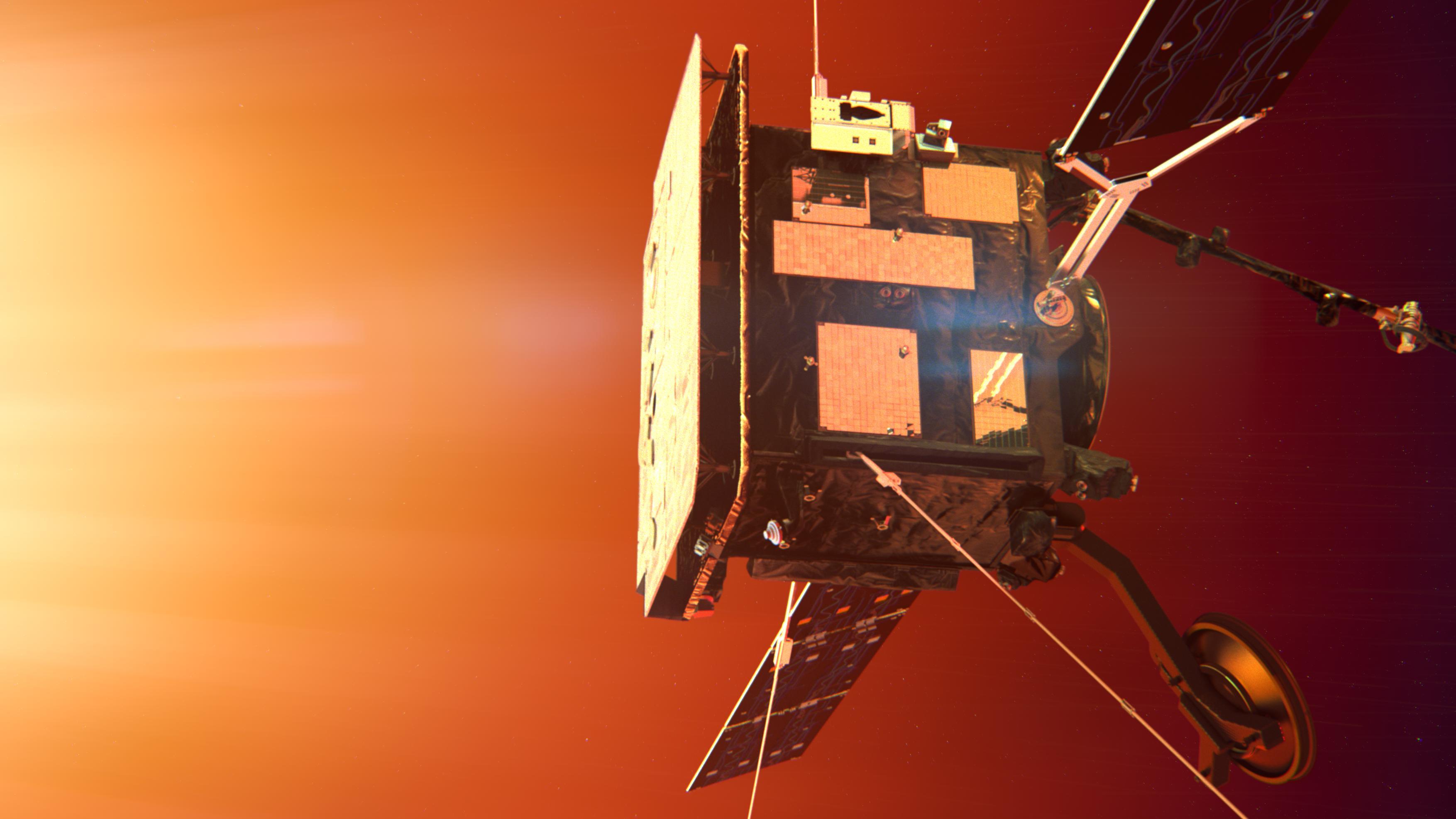 The ESA Solar Orbiter artistic impression