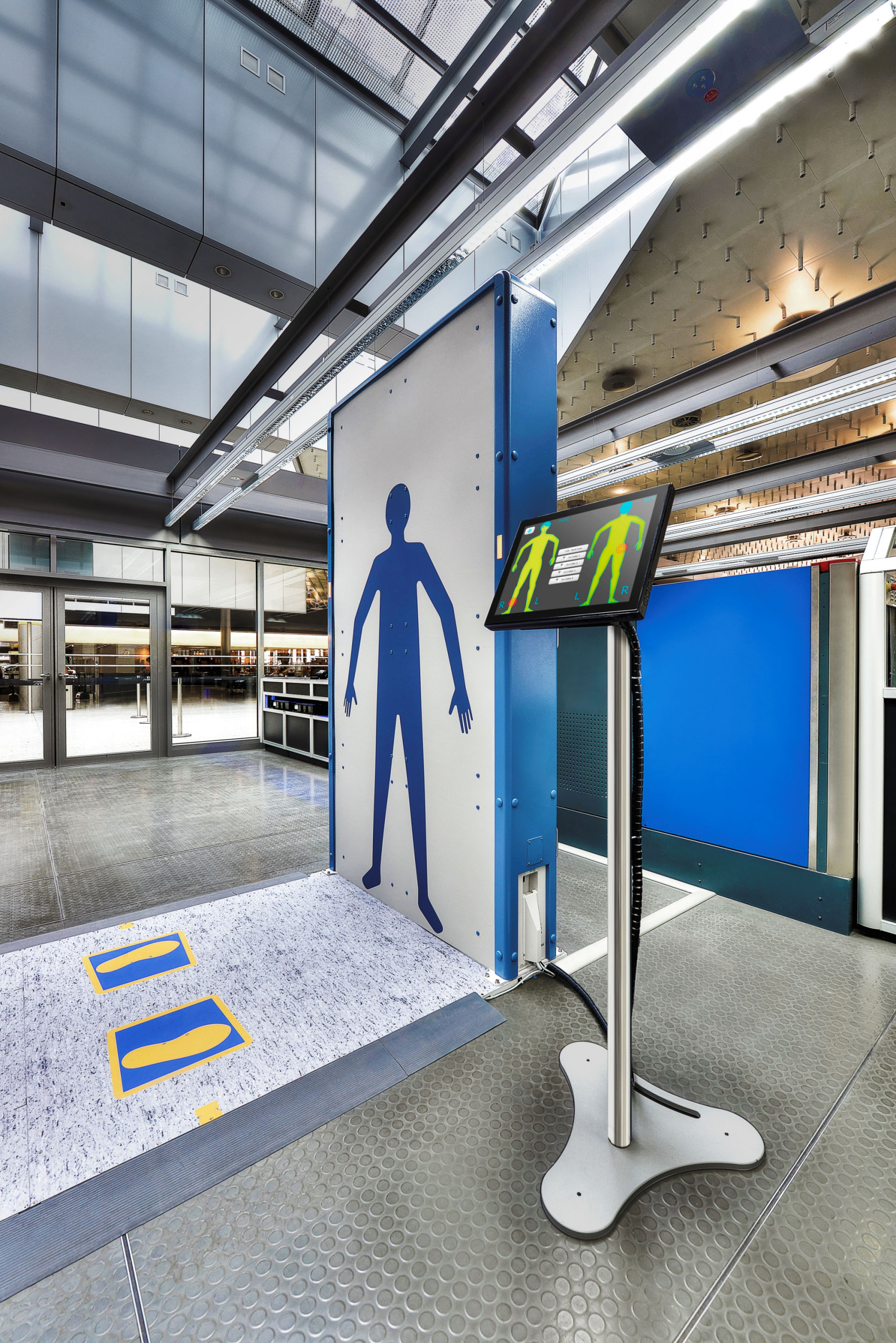 The QPS full body scanner provides rapid detection of dangerous items